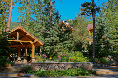 Triple Creek Ranch lodge entrance