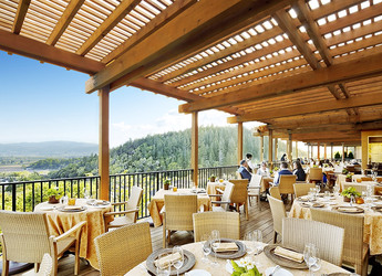 Restaurant terrace at Auberge du Soleil