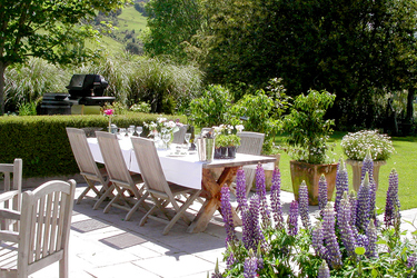 The Garden patio  at The Edenhouse in Nelson, New Zealand