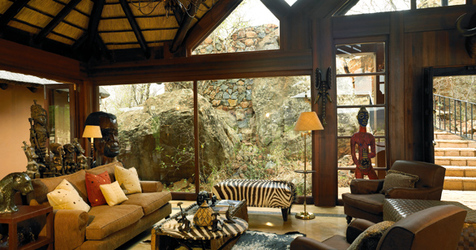 Lounge at Mateya Safari Lodge