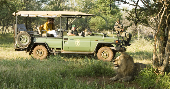 Game drive at Mateya Safari Lodge