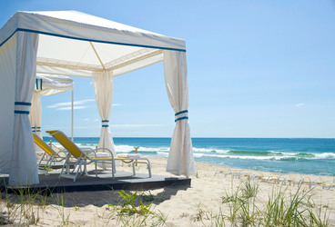 Beach cabana at Ocean House