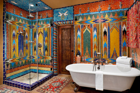 Itinerary weekend getaway in santa fe andrew harper travel for Mexican themed bathroom ideas
