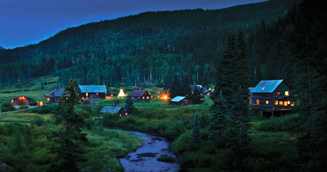 Dunton Hot Springs night view