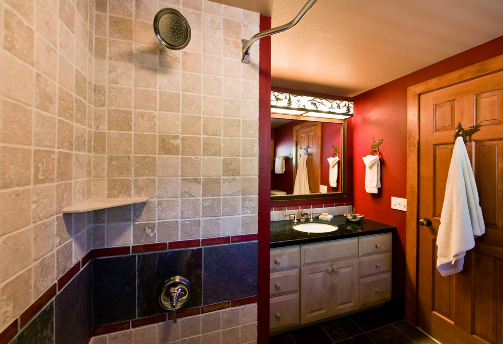 Jenny Lake Lodge. Suite Bathroom. Jenny Lake Lodge. Dining Room Part 58