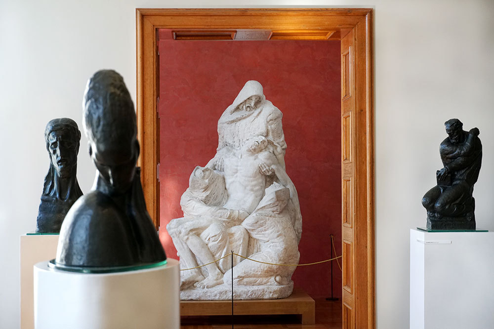 Sculptures inside the Meštrović Gallery near Split, Croatia