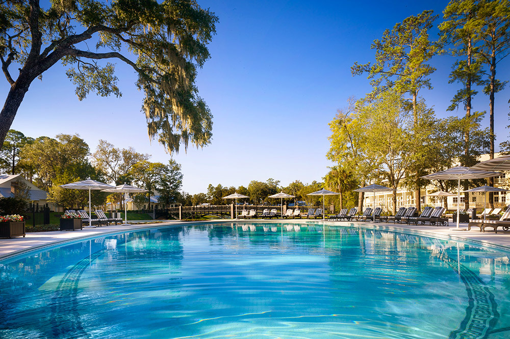 The Inn Family Pool at The Montage Palmetto Bluff, Bluffton, South Carolina