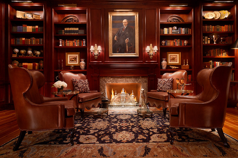 The Inn Library at The Montage Palmetto Bluff, Bluffton, South Carolina