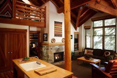 Interior view of the Mountain Loft at Sundance Mountain Resort in Sundance, Utah