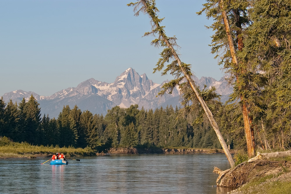 Rafting on Snake River in Grand Teton National Park