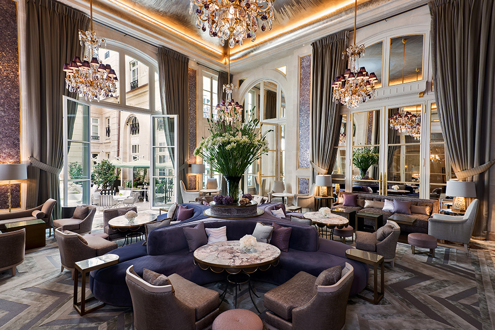 Jardin d'Hiver restaurant at Hôtel de Crillon in Paris, France