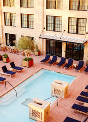 The pool at Hotel Emma in San Antonio, Texas