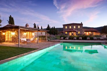 The Pool House at Rosewood Castiglion Del Bosco in Tuscany, Italy