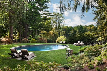 The pool at Wheatleigh in Lenox, Massachusetts