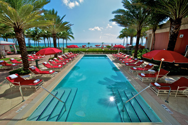 The Recreational Pool at Acqualina and Spa in Miami, Florida