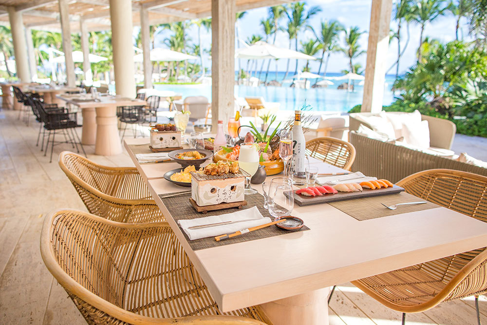 The Blue Grill Bar Terrace Dining Area At Eden Roc Cap Cana