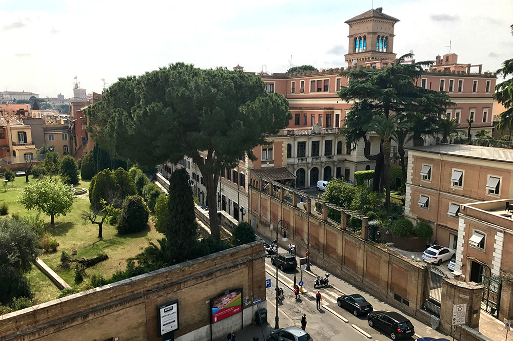 The view from Hotel Eden in Rome, Itally