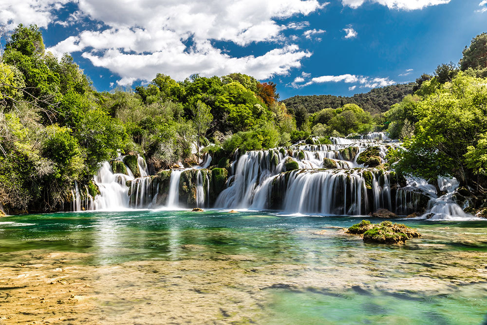 Skradinski Buk Waterfall in Krka National Park in Dalmatia, Croatia