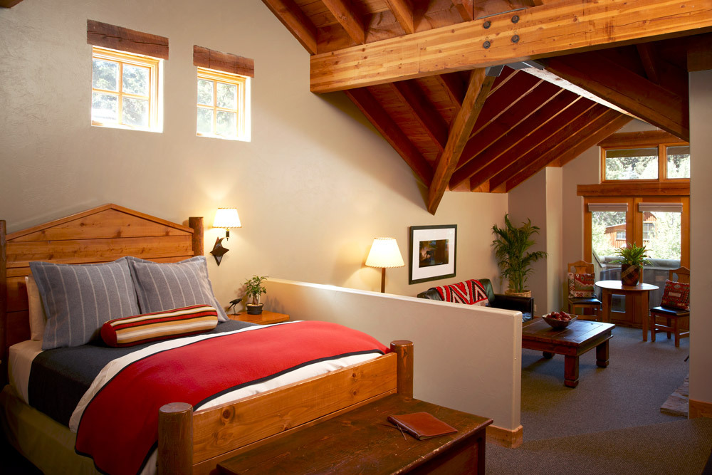 Interior of a suite at Sundance Mountain Resort in Sundance, Utah