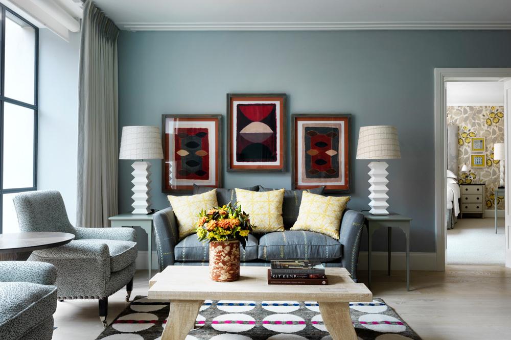 The Suite Livingroom at Ham Yard Hotel