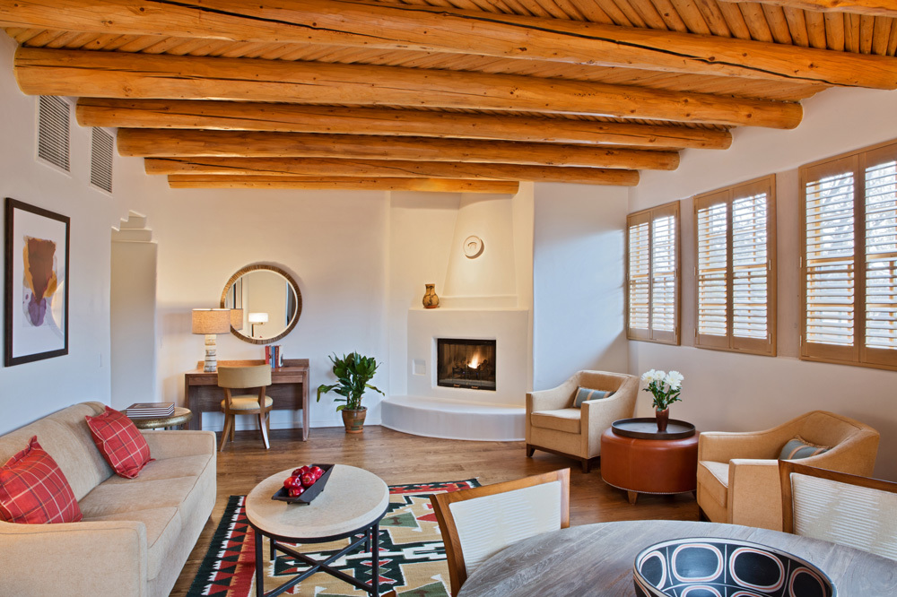 The Suite Parlor at Rosewood Inn of the Anasazi in Santa Fe, New Mexico