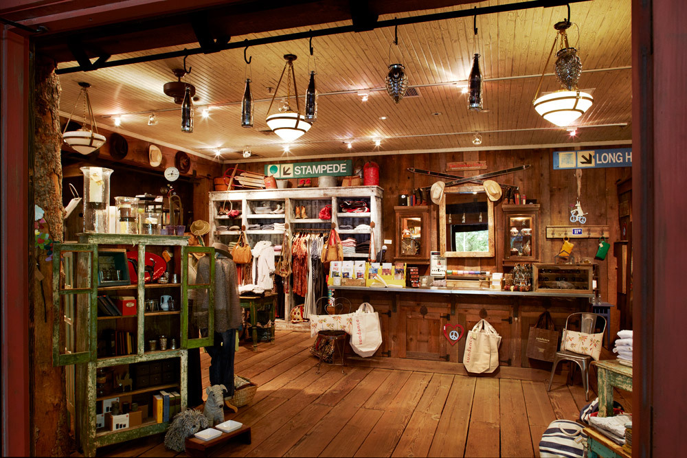 Interior of Sundance General Store at Sundance Mountain Resort in Sundance, Utah