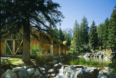 Exterior of a cabin at Sundance Mountain Resort in Sundance, Utah