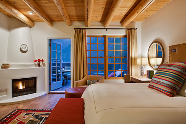 The Superior Deluxe Balcony Room at Rosewood Inn of the Anasazi in Santa Fe, New Mexico