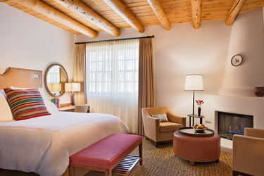 The Superior Room at Rosewood Inn of the Anasazi in Santa Fe, New Mexico
