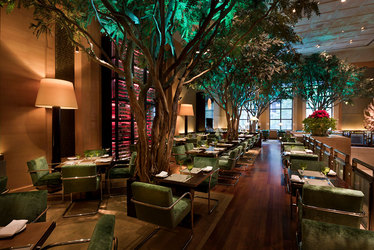 The Garden restaurant at Four Seasons Hotel New York in New York, New York, United States