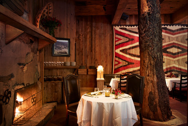 Interior of Tree Room restaurant at Sundance Mountain Resort in Sundance, Utah