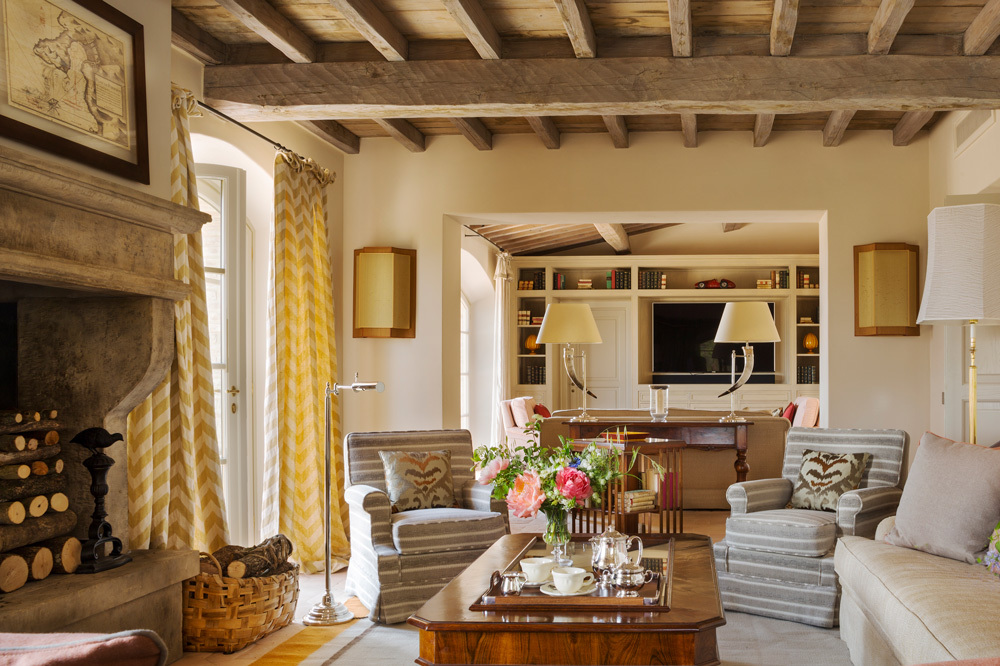 The Villa Agrest Livingroom at Rosewood Castiglion Del Bosco in Tuscany, Italy