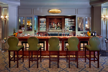 The cocktail bar at Windsor Court Hotel in New Orleans, Louisiana
