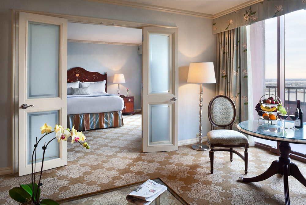 The full size suite at Windsor Court Hotel in New Orleans, Louisiana