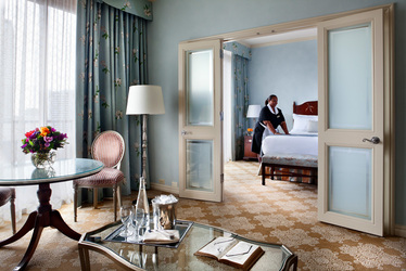 The junior suite at Windsor Court Hotel in New Orleans, Louisiana