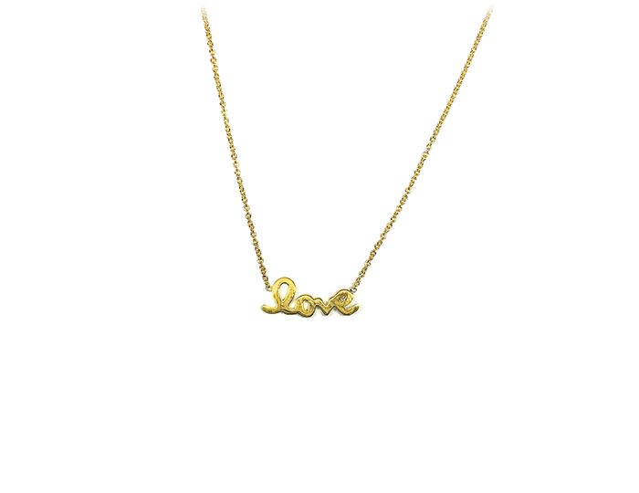 Roberto Coin Tiny Treasure Collection necklace in 18k yellow gold.
