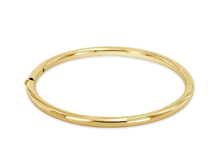 Roberto Coin 18k yellow gold bangle bracelet.