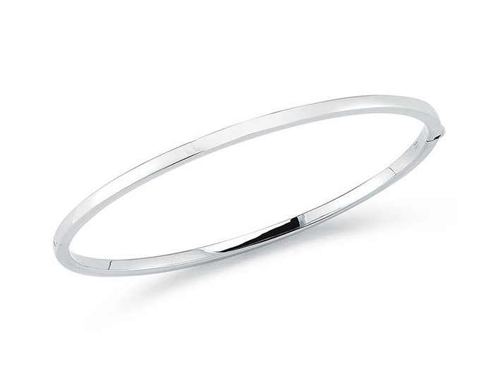 Roberto Coin 18k white gold bangle bracelet.