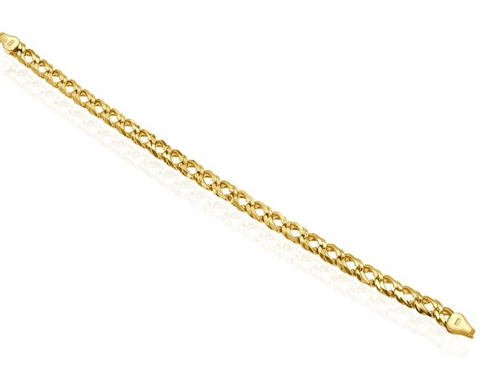 Men's bracelet in 18k yellow gold.