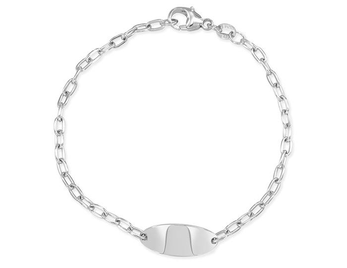ID bracelet in 14k white gold.