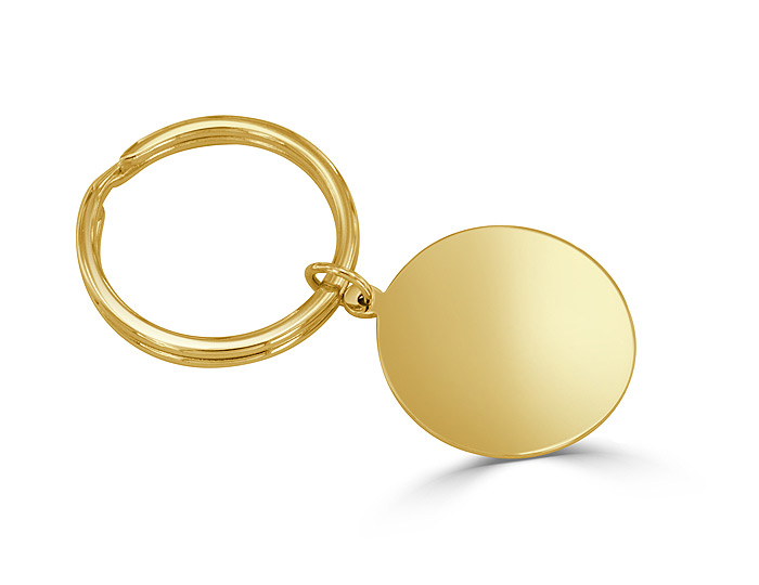 Key chain in 14k yellow gold.