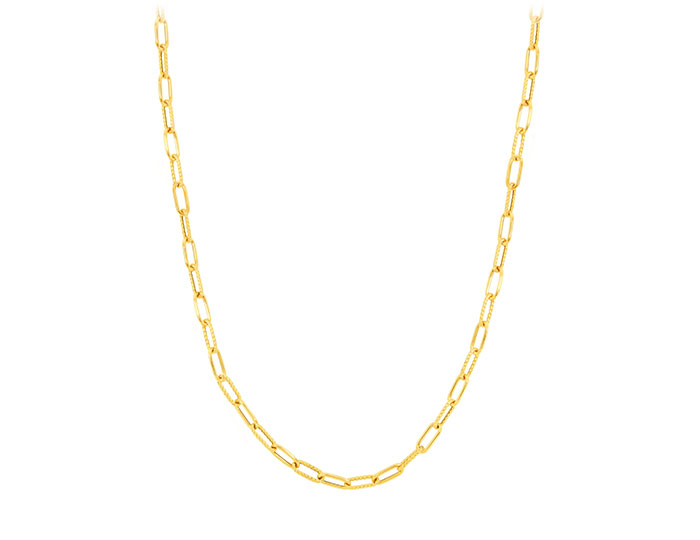 """Roberto Coin 18k yellow gold 34"""" necklace."""