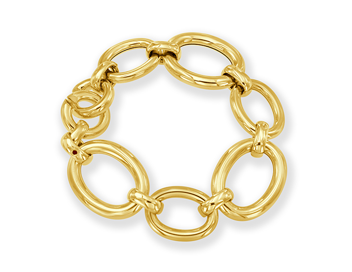 Roberto Coin bracelet in 18k yellow gold.