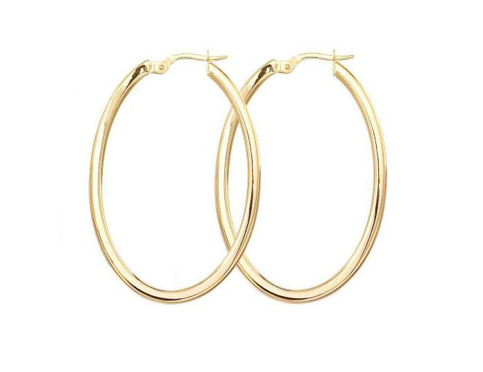 Roberto Coin 18k yellow gold hoop earrings.