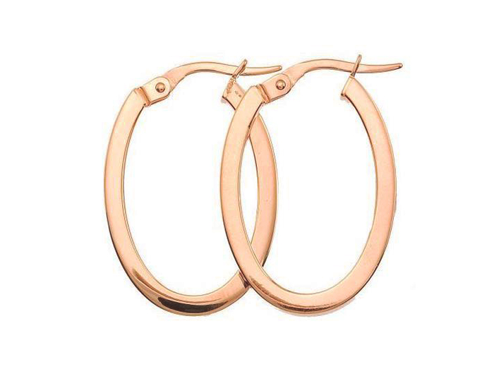 Roberto Coin 18k rose gold hoop earrings.