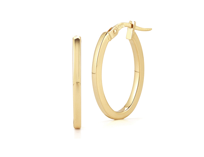 Roberto Coin Chic & Shine Collection earrings in 18k yellow gold.