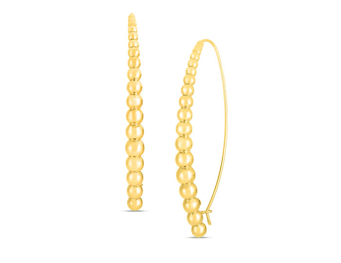 Roberto Coin Oro collection earrings in 18k yellow gold.