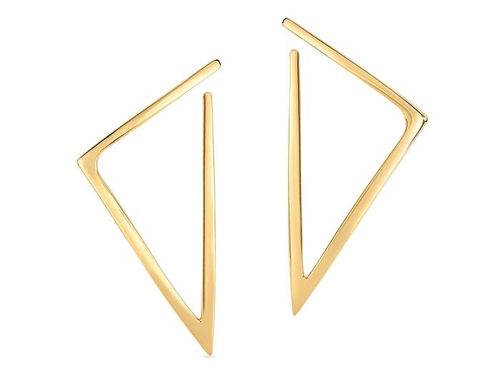 Roberto Coin earrings in 18k yellow gold.