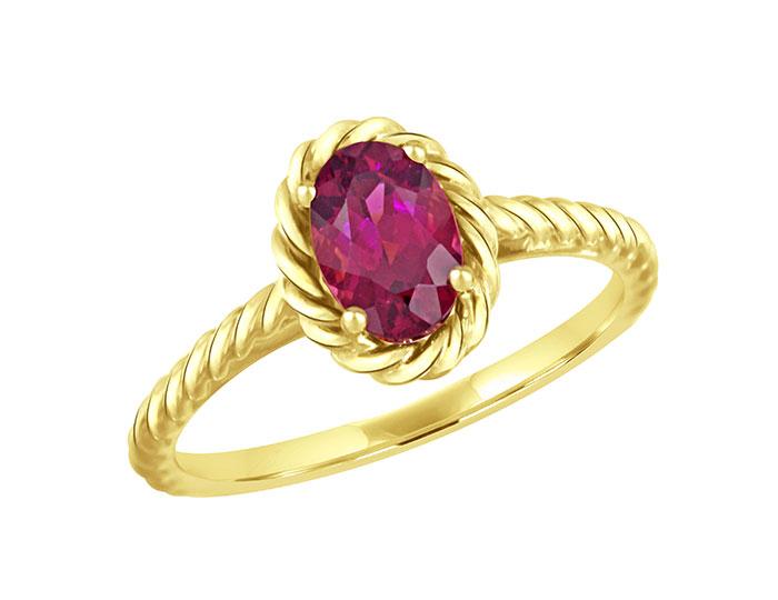 Rhodolite garnet ring in 18k yellow gold.