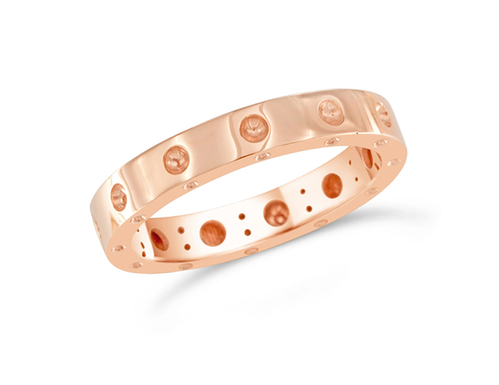 Roberto Coin Symphony Collection ring in 18k rose gold.